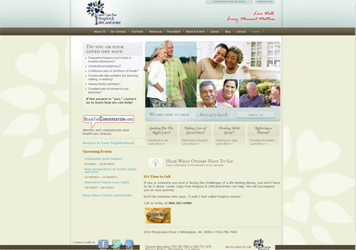 Lower Cape Fear Hospice Website Design