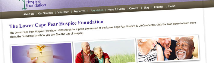 Lower Cape Fear Hospice Foundation website design & development