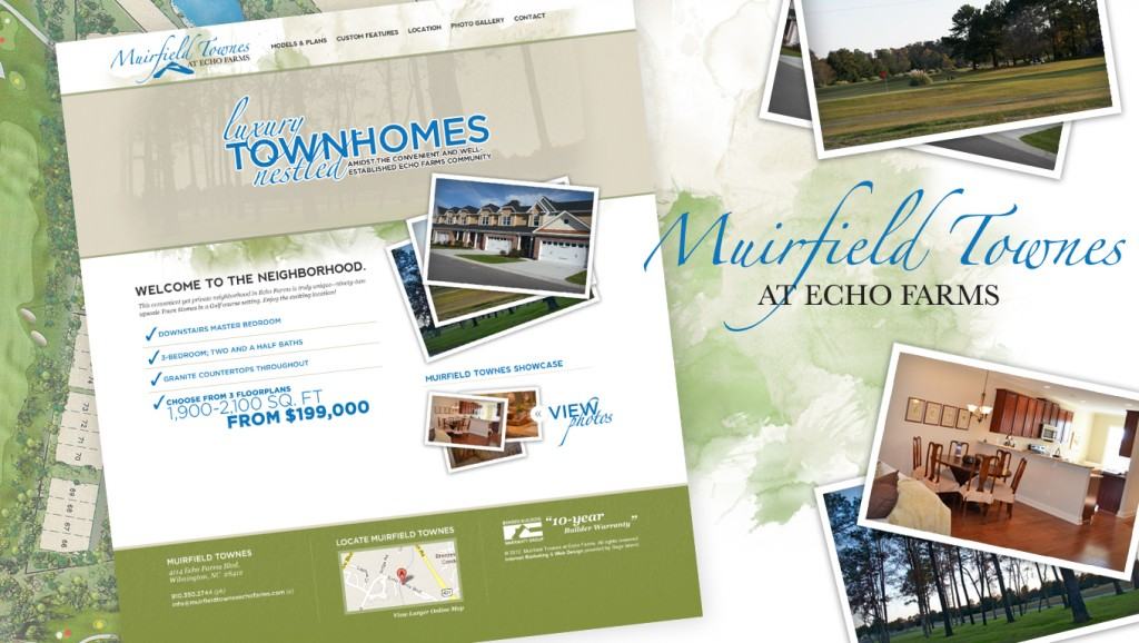 Muirfield Townes at Echo Farms Web Design by Sage Island