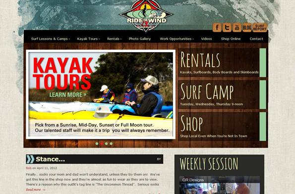 Sage Island designed the new Ride the Wind surfocracoke.com website