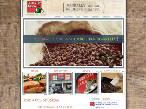 Port City Java Website Design