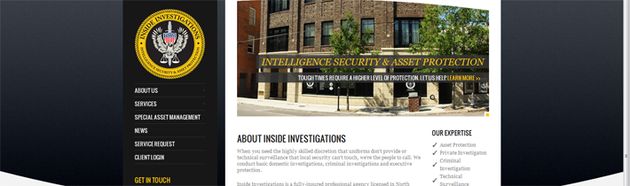 Inside Investigations Website Development