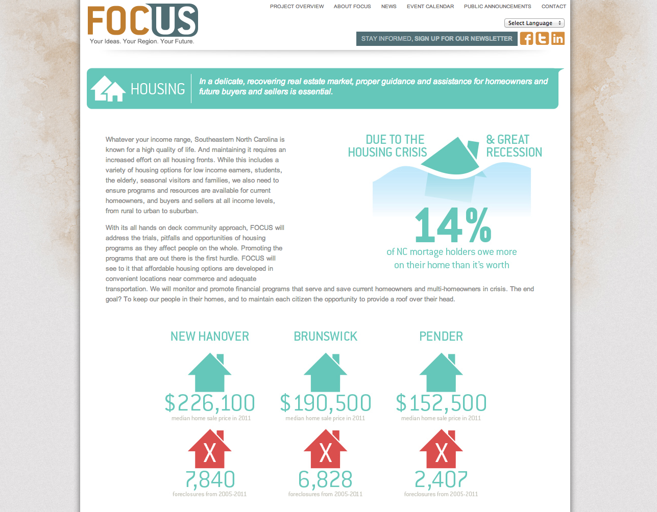 FOCUS Website by Sage Island