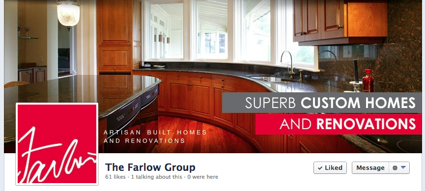 The Farlow Group Custom Design Facebook Page by Sage Island
