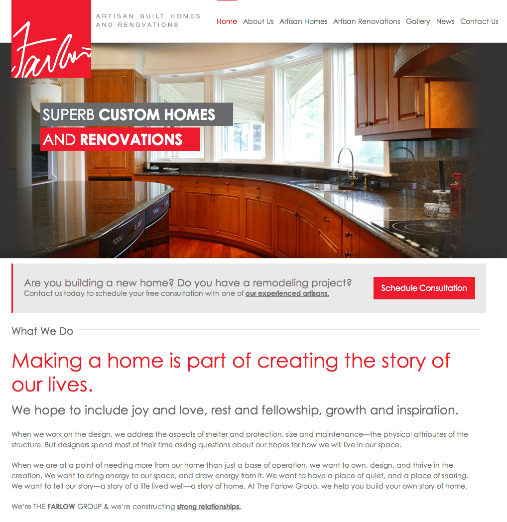 The Farlow Group Website Design by Sage Island