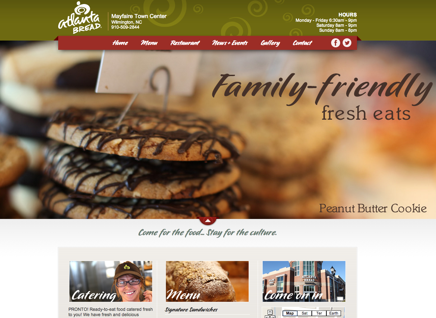 Atlanta Bread Company at Mayfaire Website Design by Sage Island