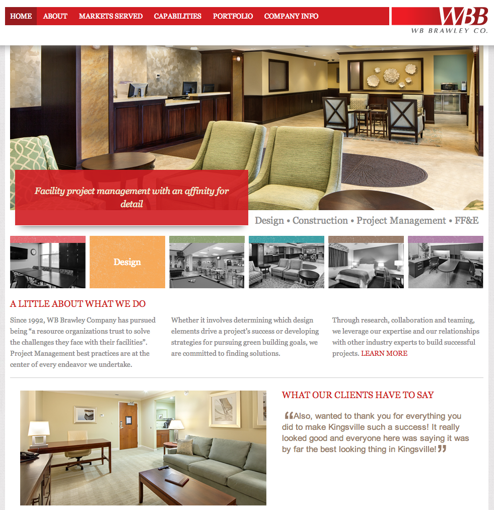 WB Brawley Company Website Design by Sage Island