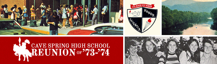 Cave Spring High Reunion Website Design by Sage Island