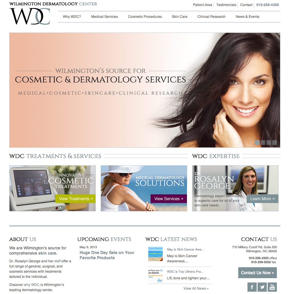 Wilmington Dermatology Center Website Design by Sage Island