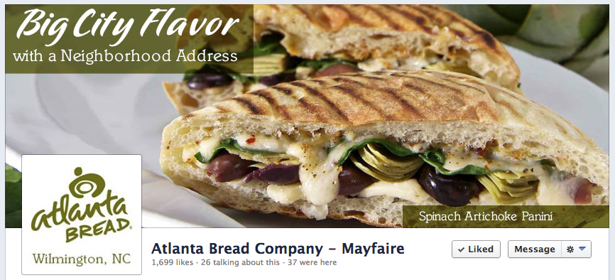 Atlanta Bread Company Mayfaire FB Graphics by Sage Island