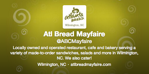 Atlanta Bread Company Mayfaire Twitter Graphics by Sage Island