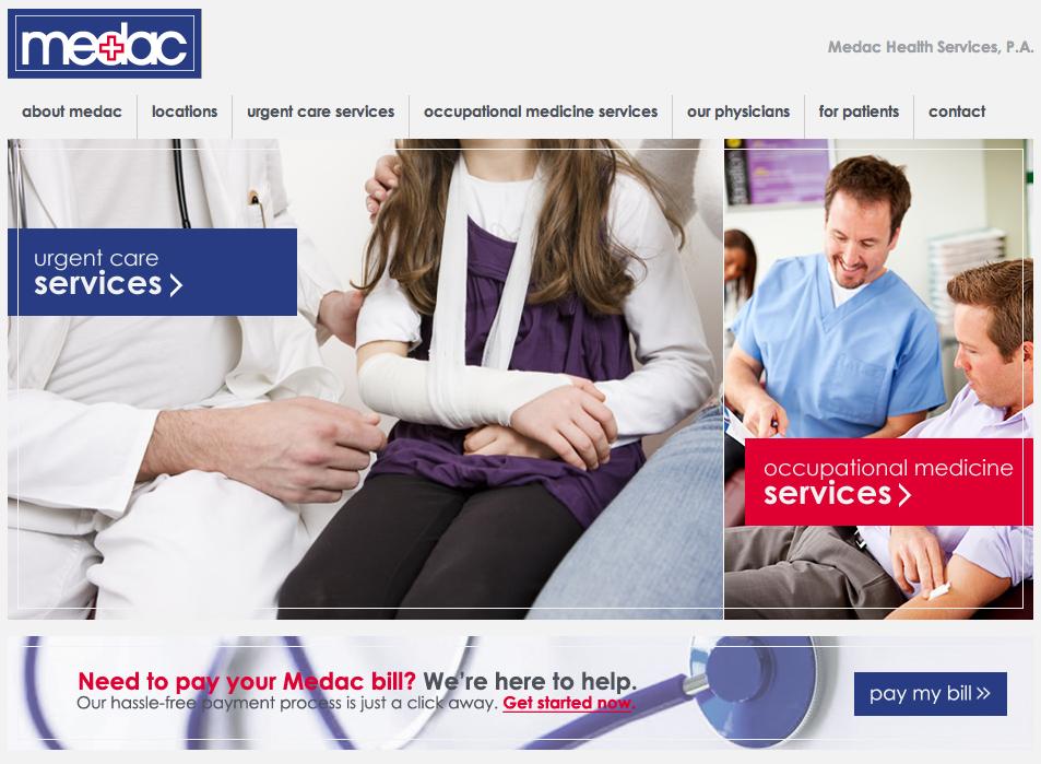 Medac Health Center Website Development by Sage Island