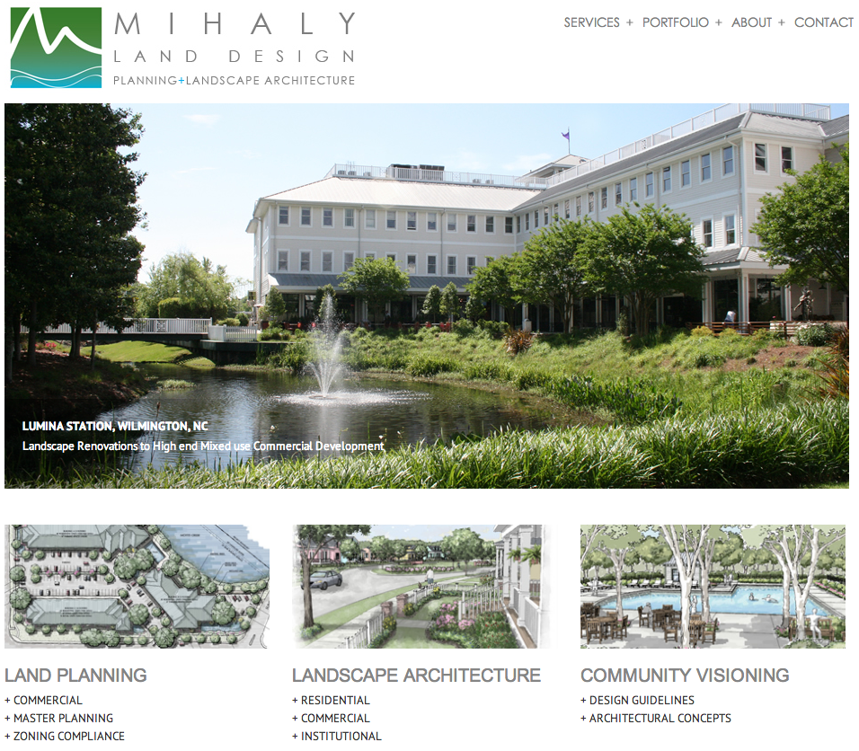 Mihaly Land Design Website Development by Sage Island