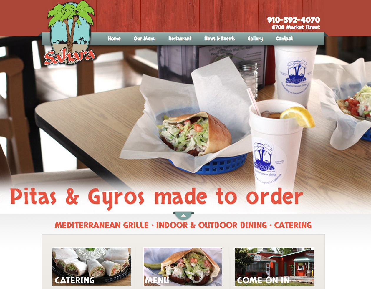 Sahara Pitas and Subs Website Development by Sage Island