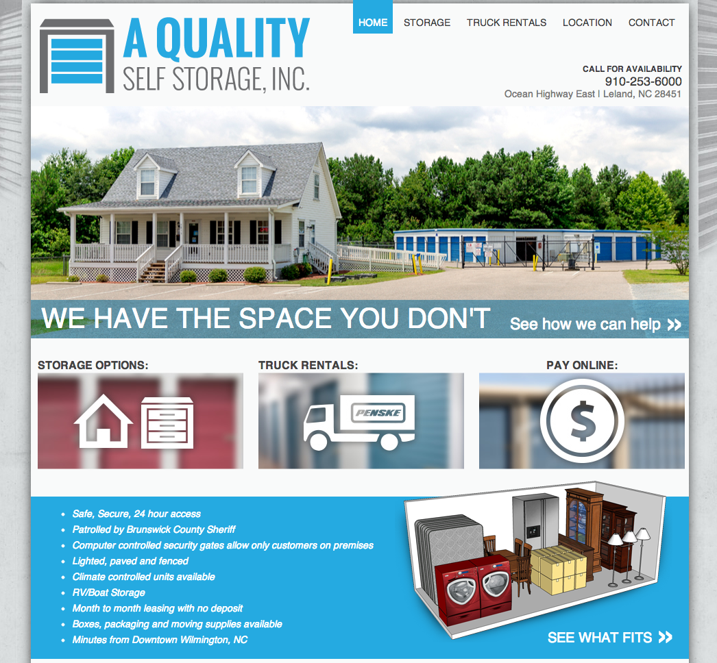 A Quality Self Storage Website Development by Sage Island