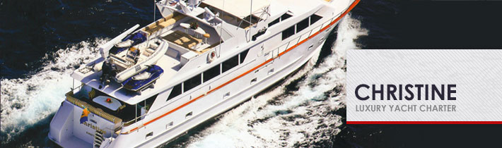 Christine Luxury Yacht Website Development by Sage Island