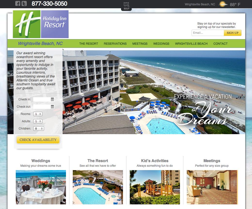 Holiday Inn WB Website Development by Sage Island