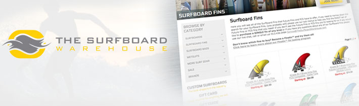 The Surfboard Warehouse Website Development by Sage Island
