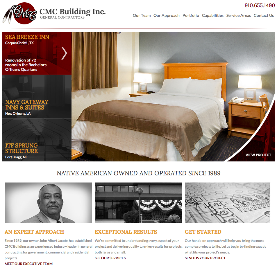 CMC Building Website Development by Sage Island