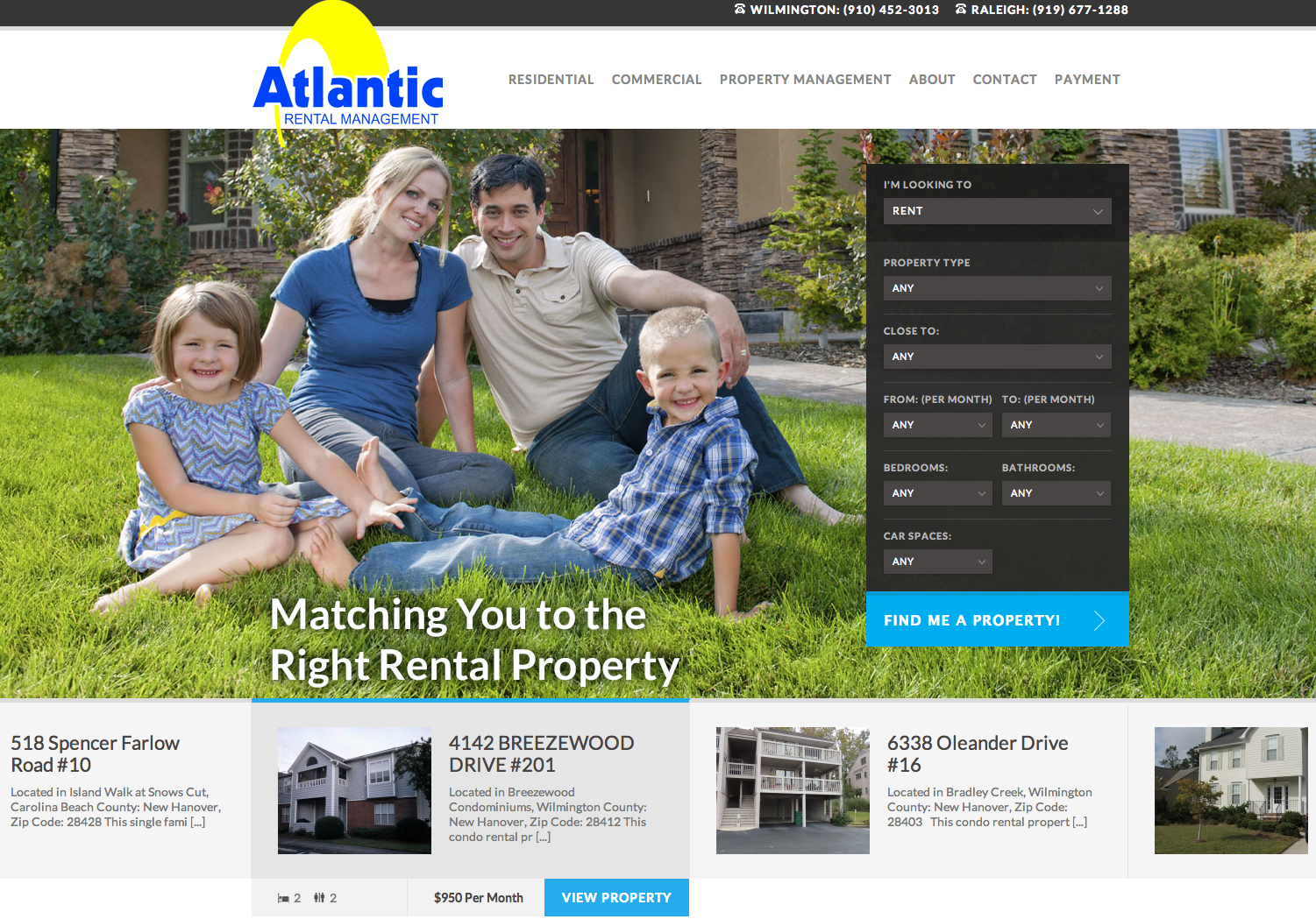 Atlantic Rental Management Website Development by Sage Island