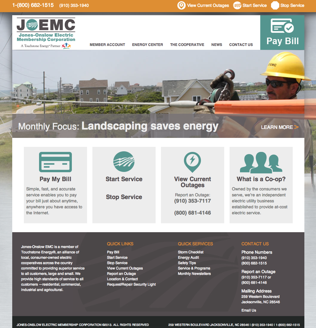 JOEMC Website Development by Sage Island