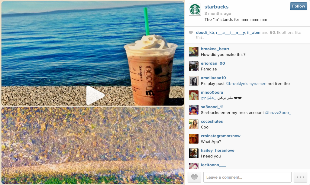 Starbucks PicPlayPost Instagram Post - Sage Island Blog