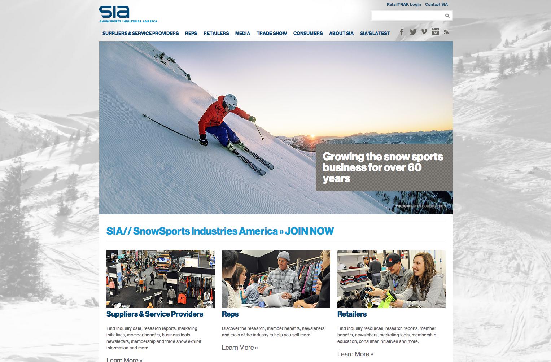 SIA SnowSports Website