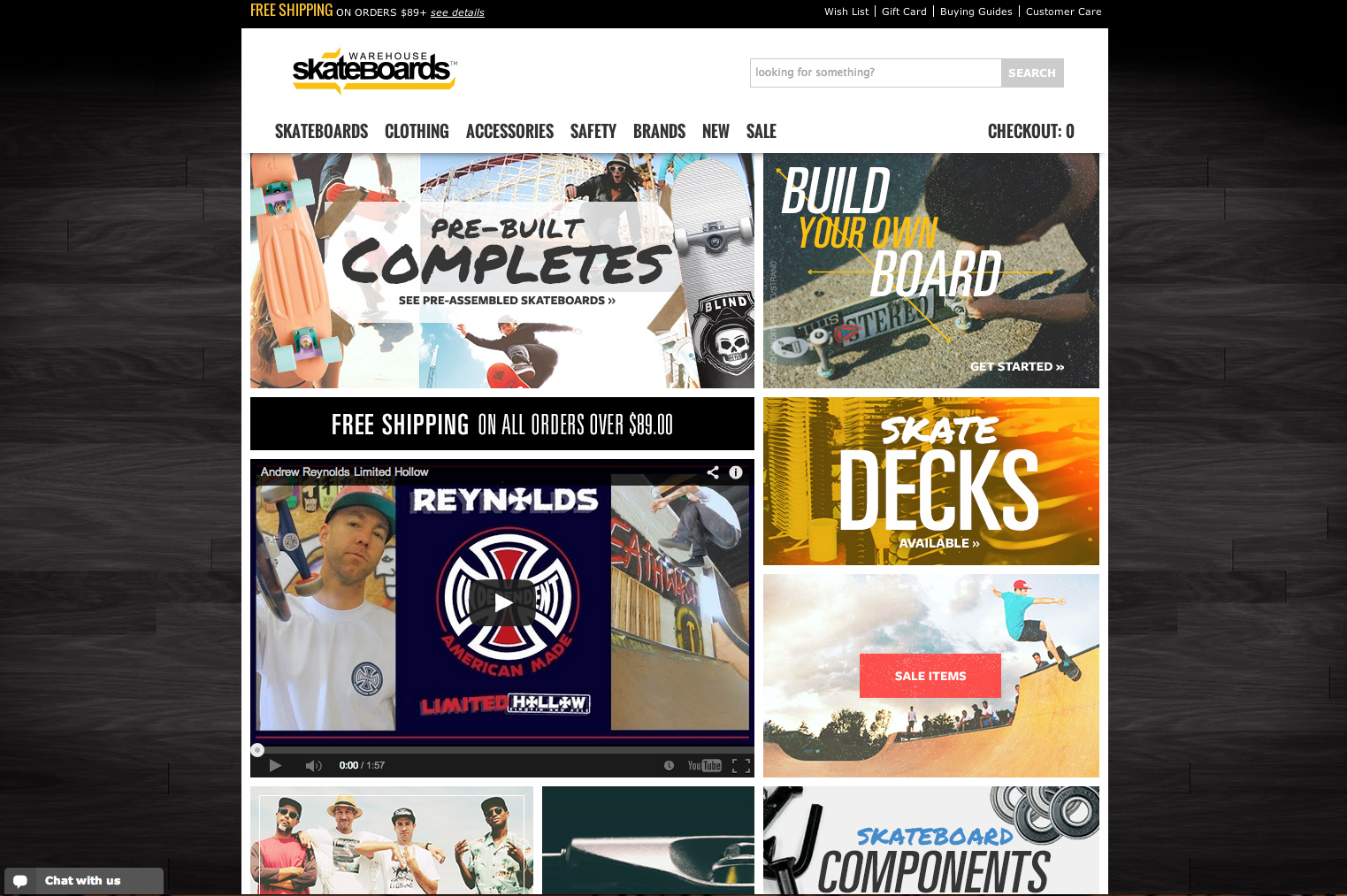 Warehouse Skateboards Website