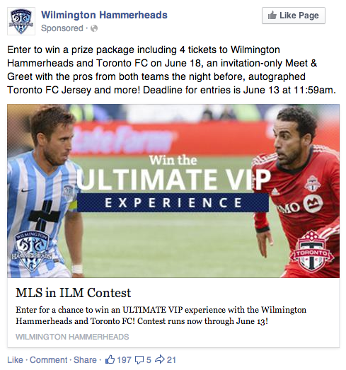 Wilmington Hammerheads Promoted Post