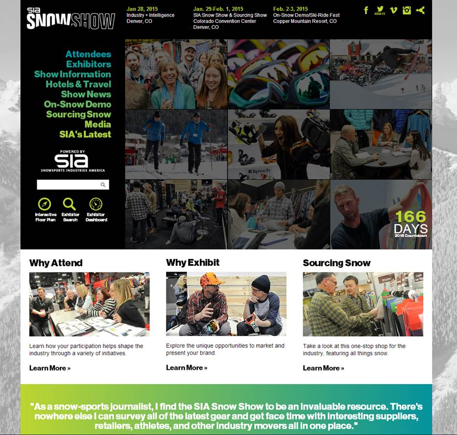 Sage-Island-Launches-SIA-SnowShow-Website-2015