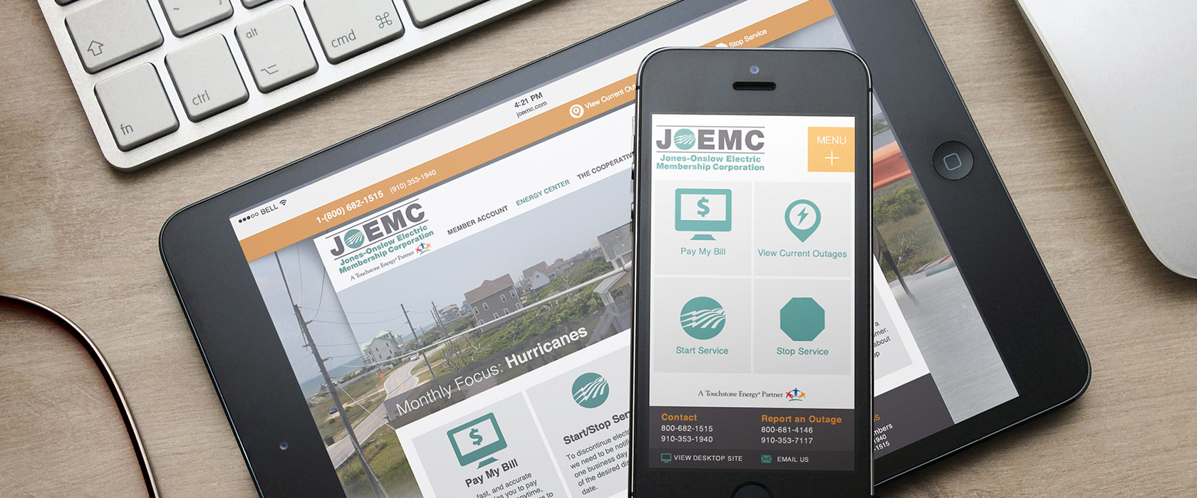 Jones Onslow Electric Membership Corporation Web Design