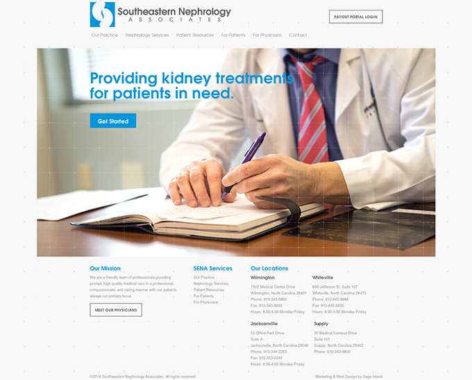 southeastern-nephrology-associates-website-development