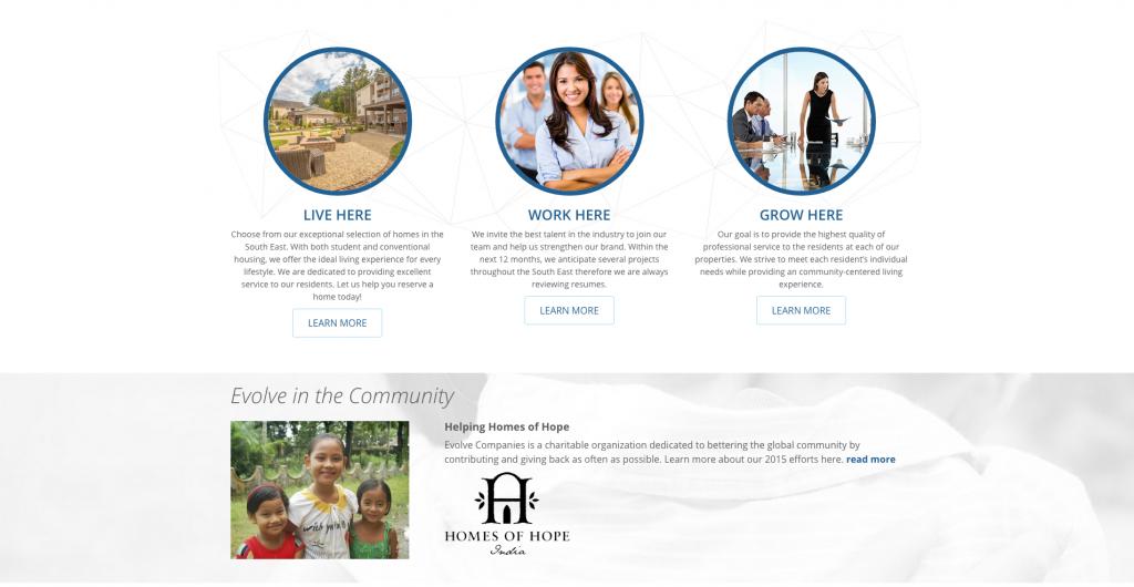 Evolve Companies Homepage