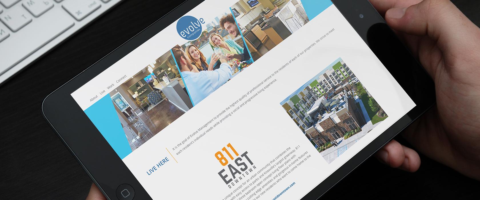 Evolve Companies Property Management Website Design