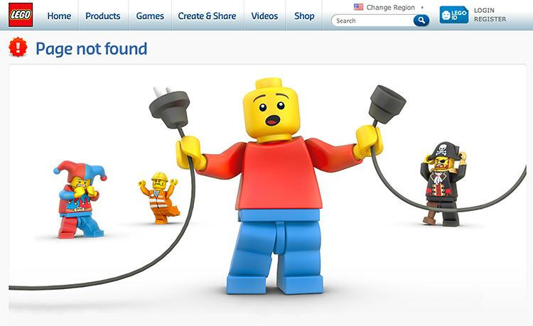 Lego 404 Error Page