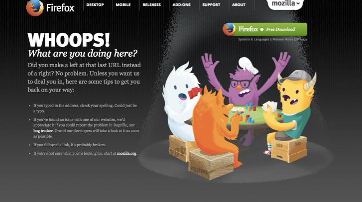 Firefox 404 Error Page