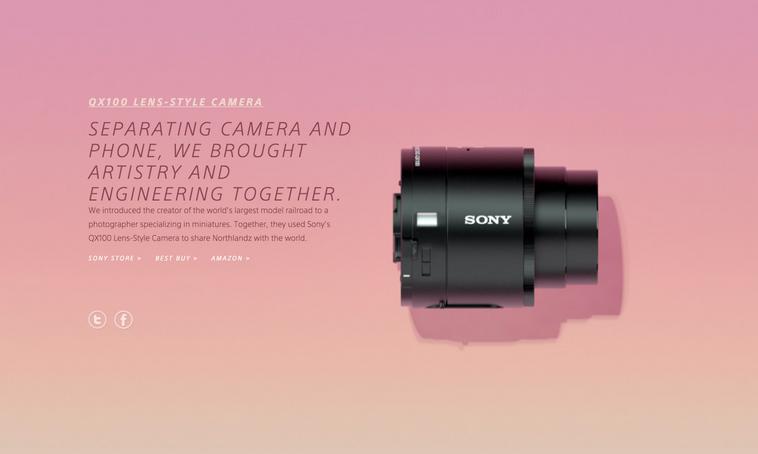 Sony parallax design