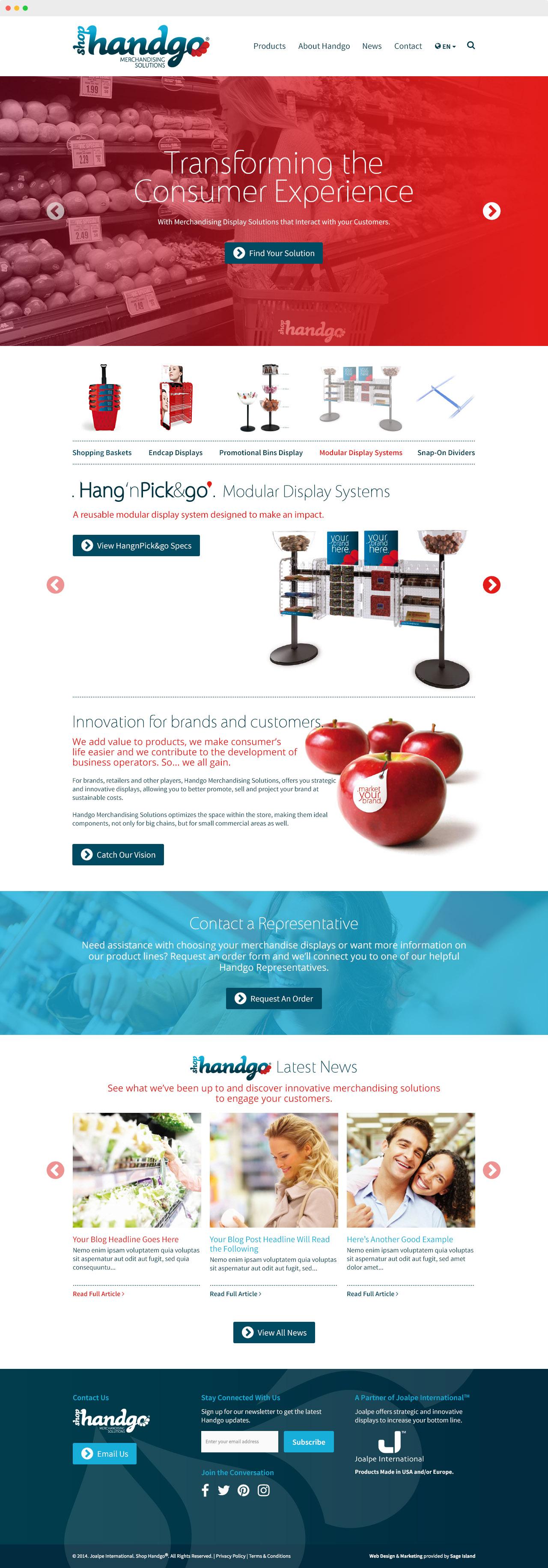 Shop Handgo Merchandise Solutions Website Design