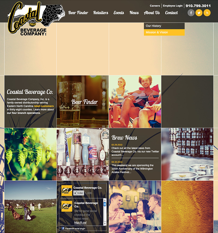 Coastal Beverage Distribution Company Web Development