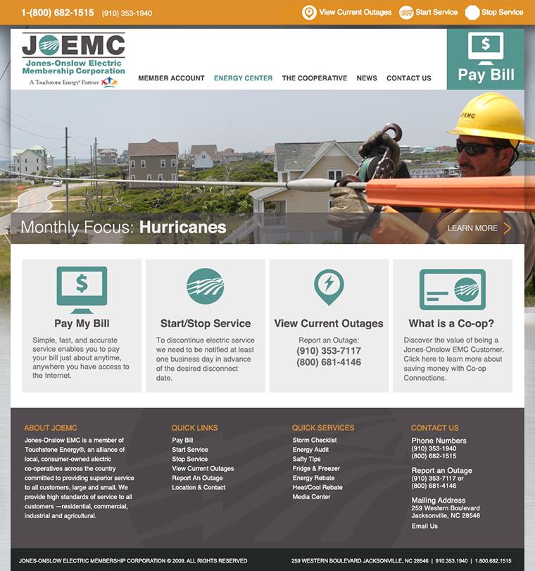 Jones Onslow Electric Membership Corporation Web Development