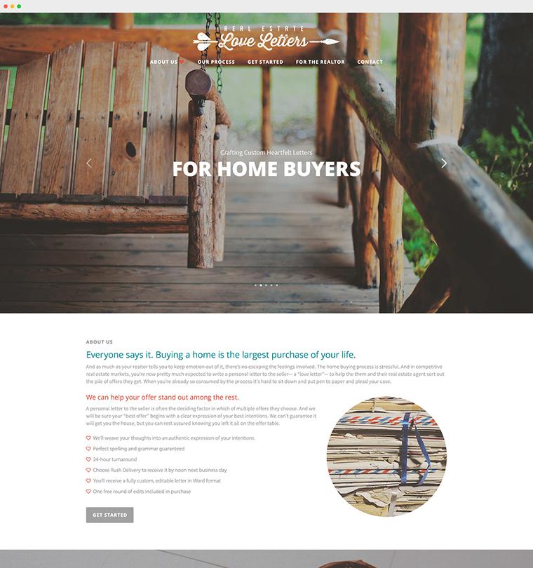 Real Estate Love Letters Website Development