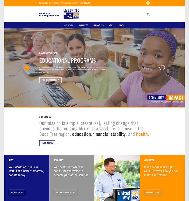 United Way of the Cape Fear Area Website Development