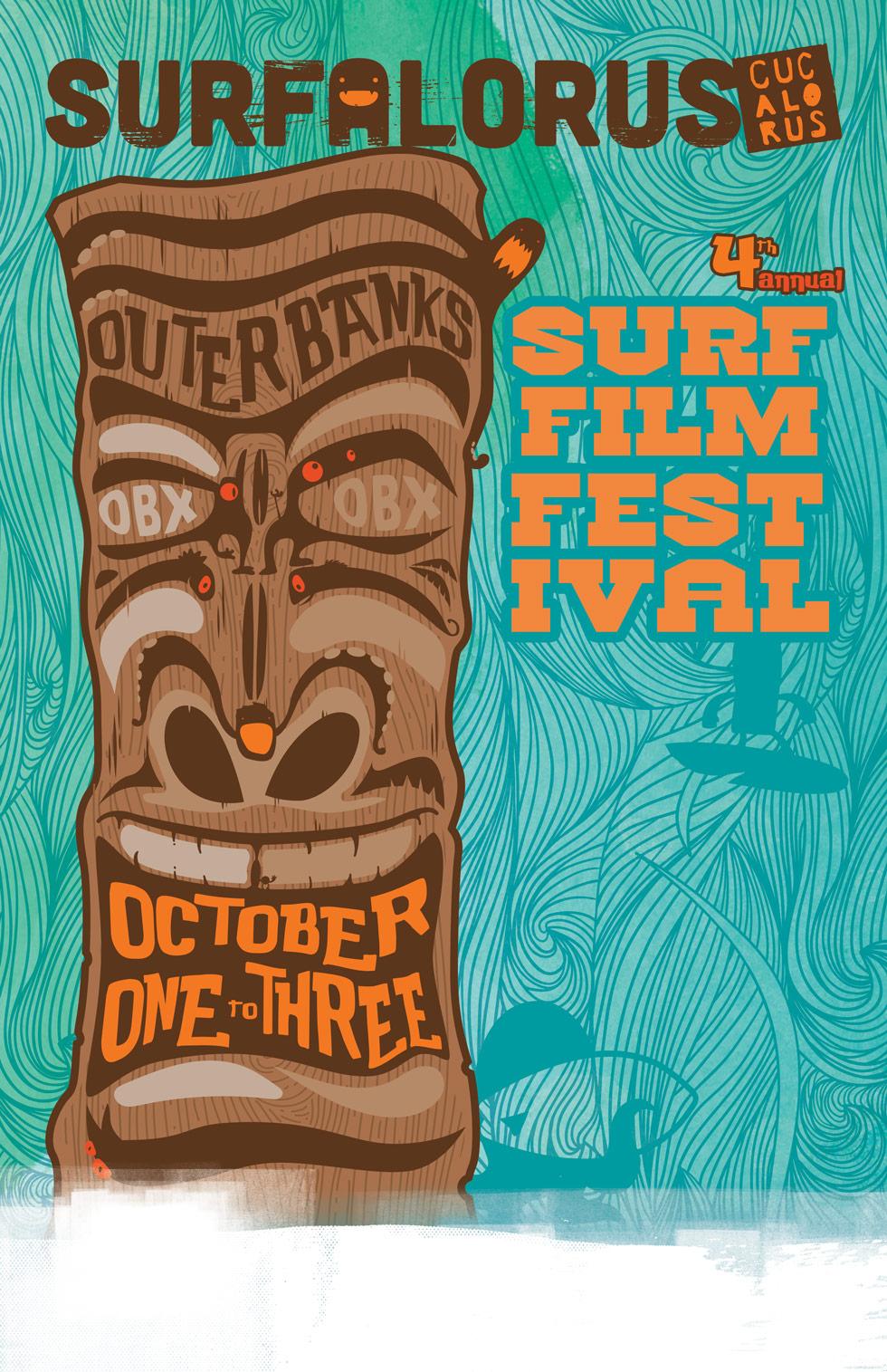 2015 Surfalorus Film Festival Poster Design