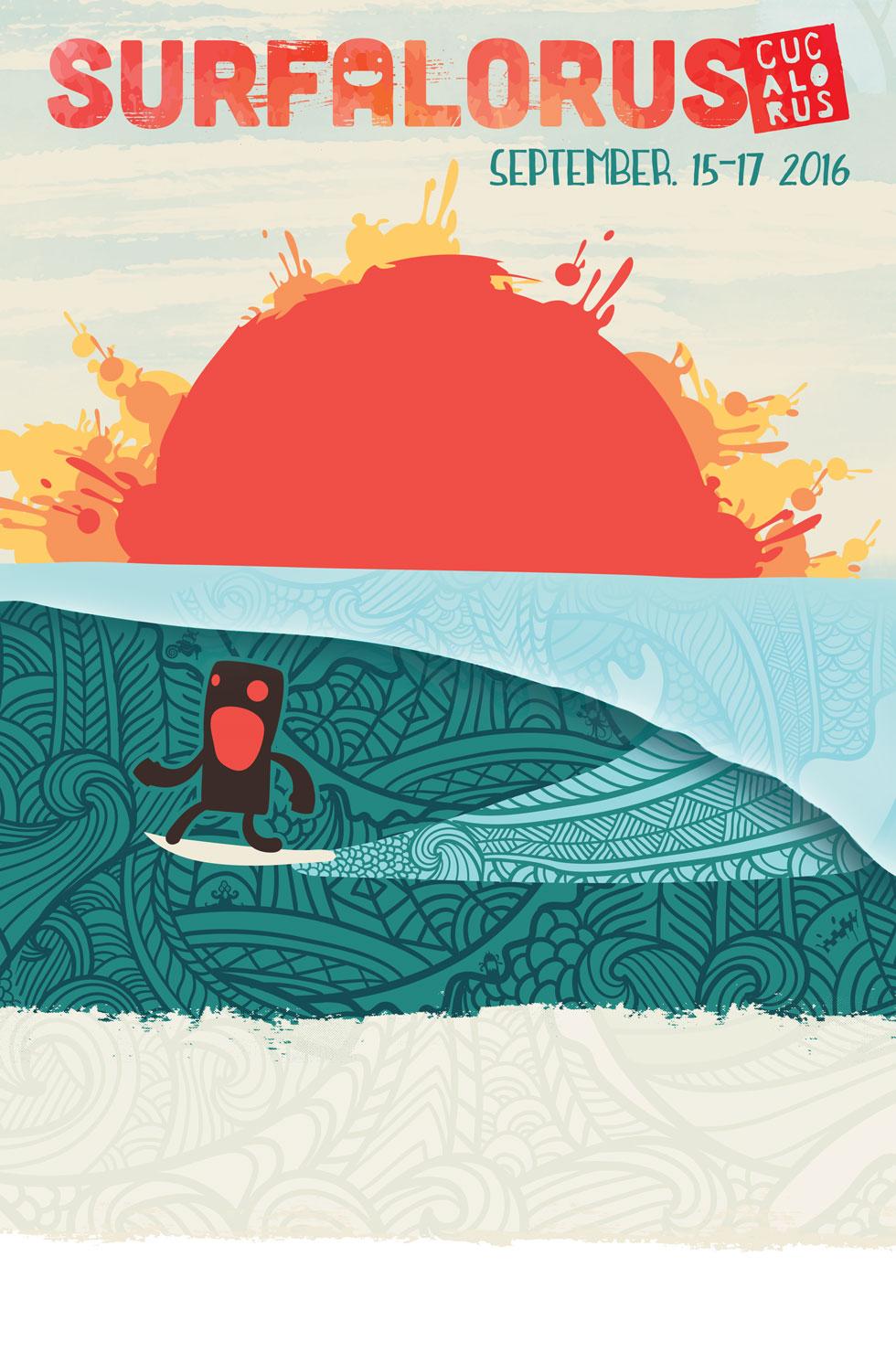 2016 Surfalorus Film Festival Poster Design