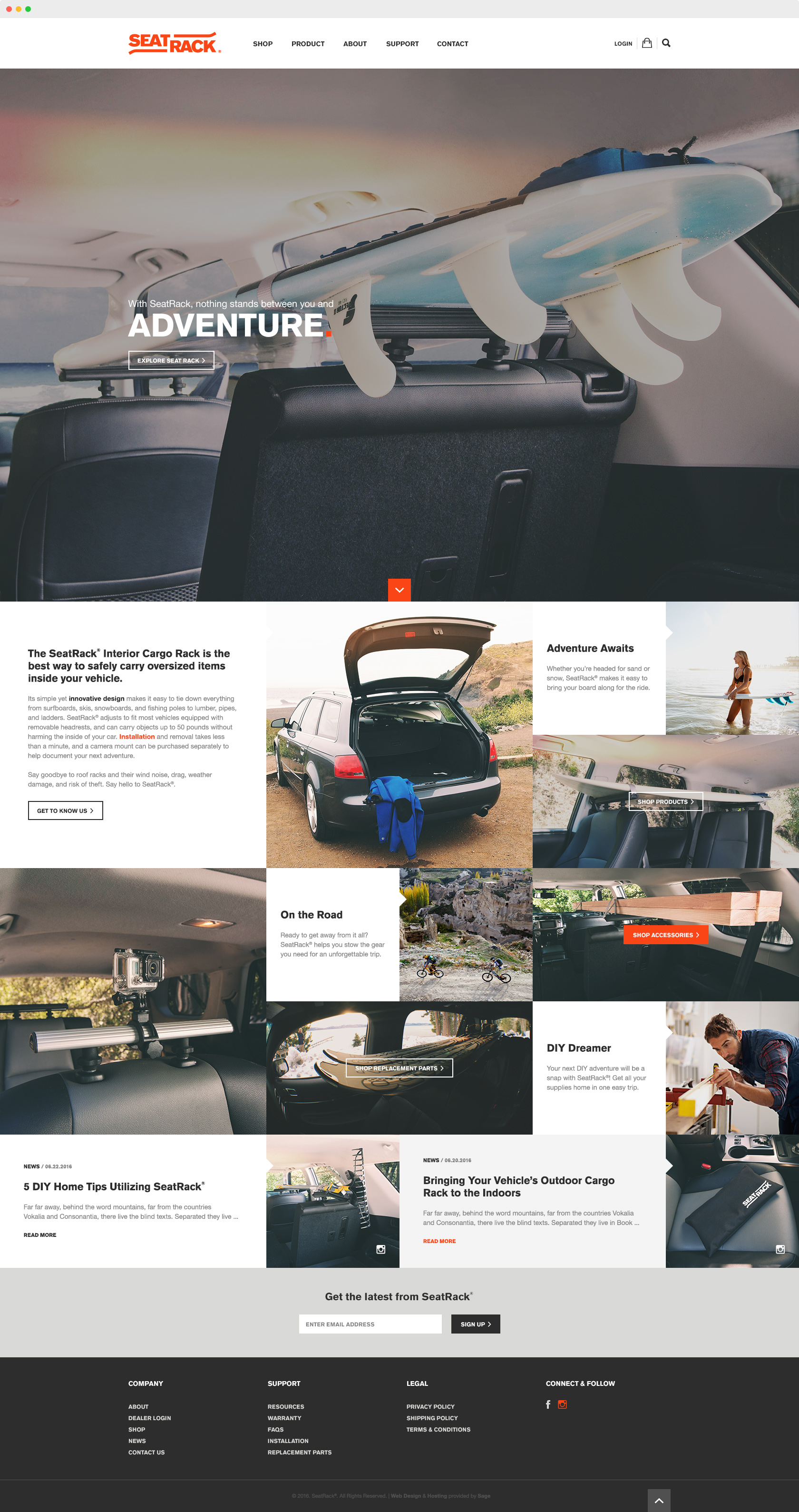 seat-rack-interior-vehicle-cargo-rack-website-design