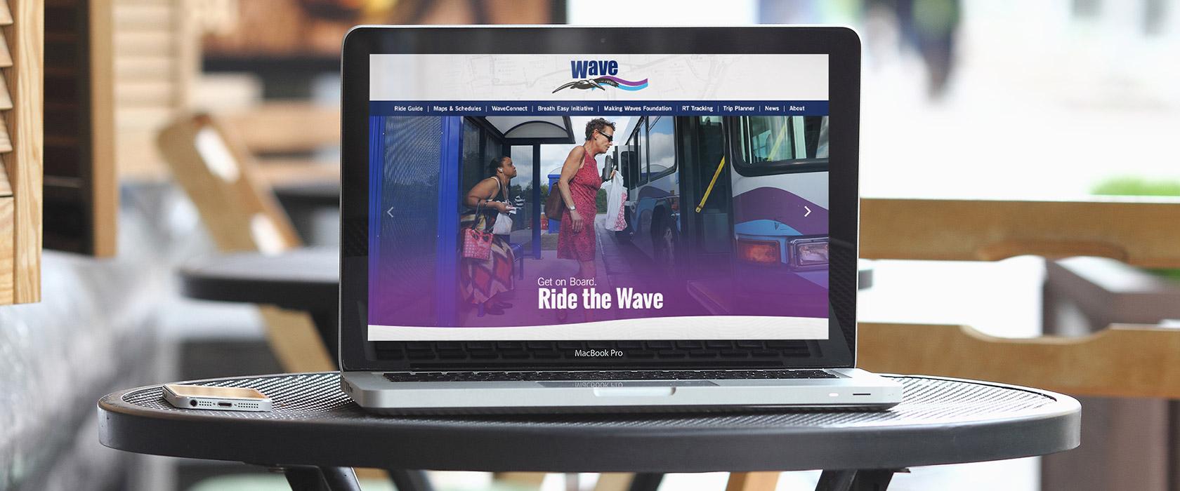 Wave Transit website redesign