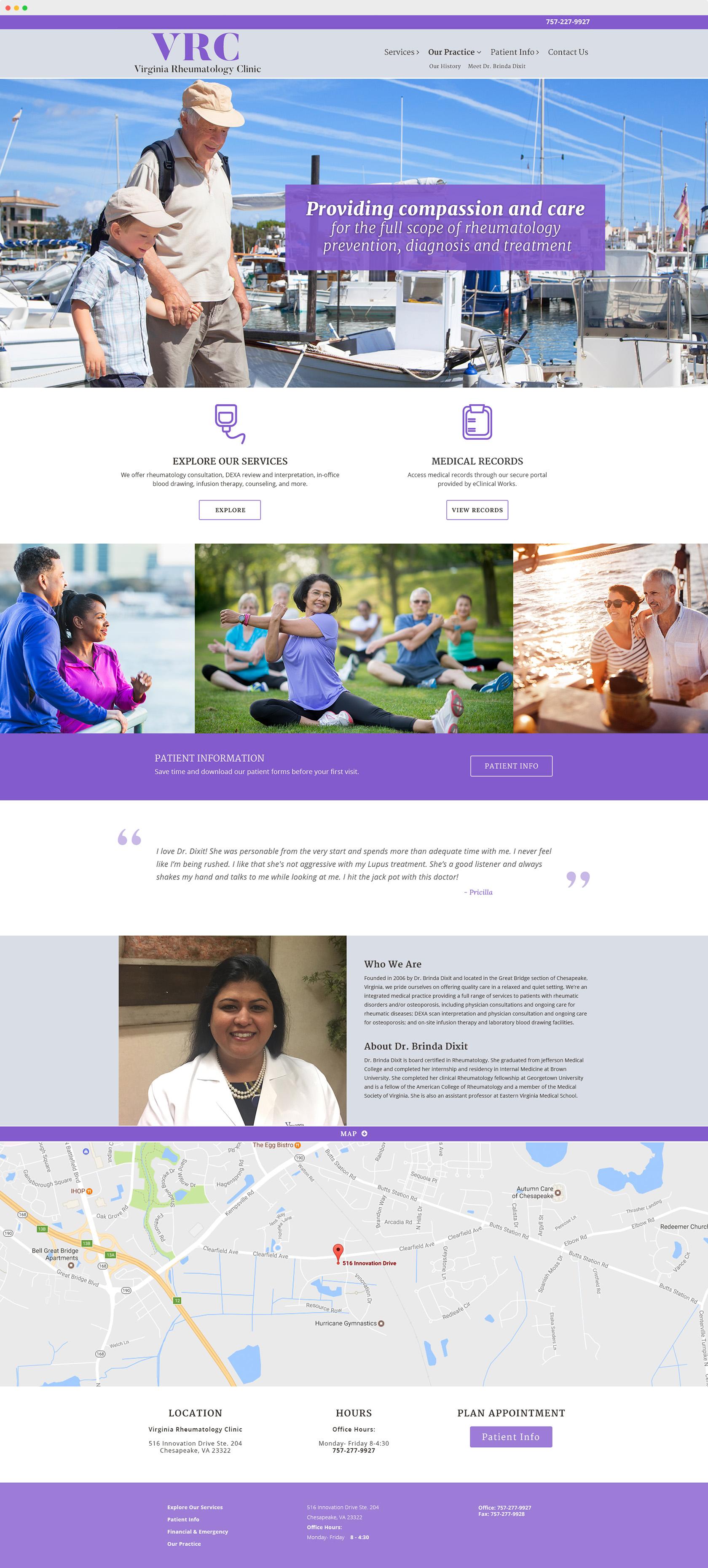 virginia rheumatology clinic website