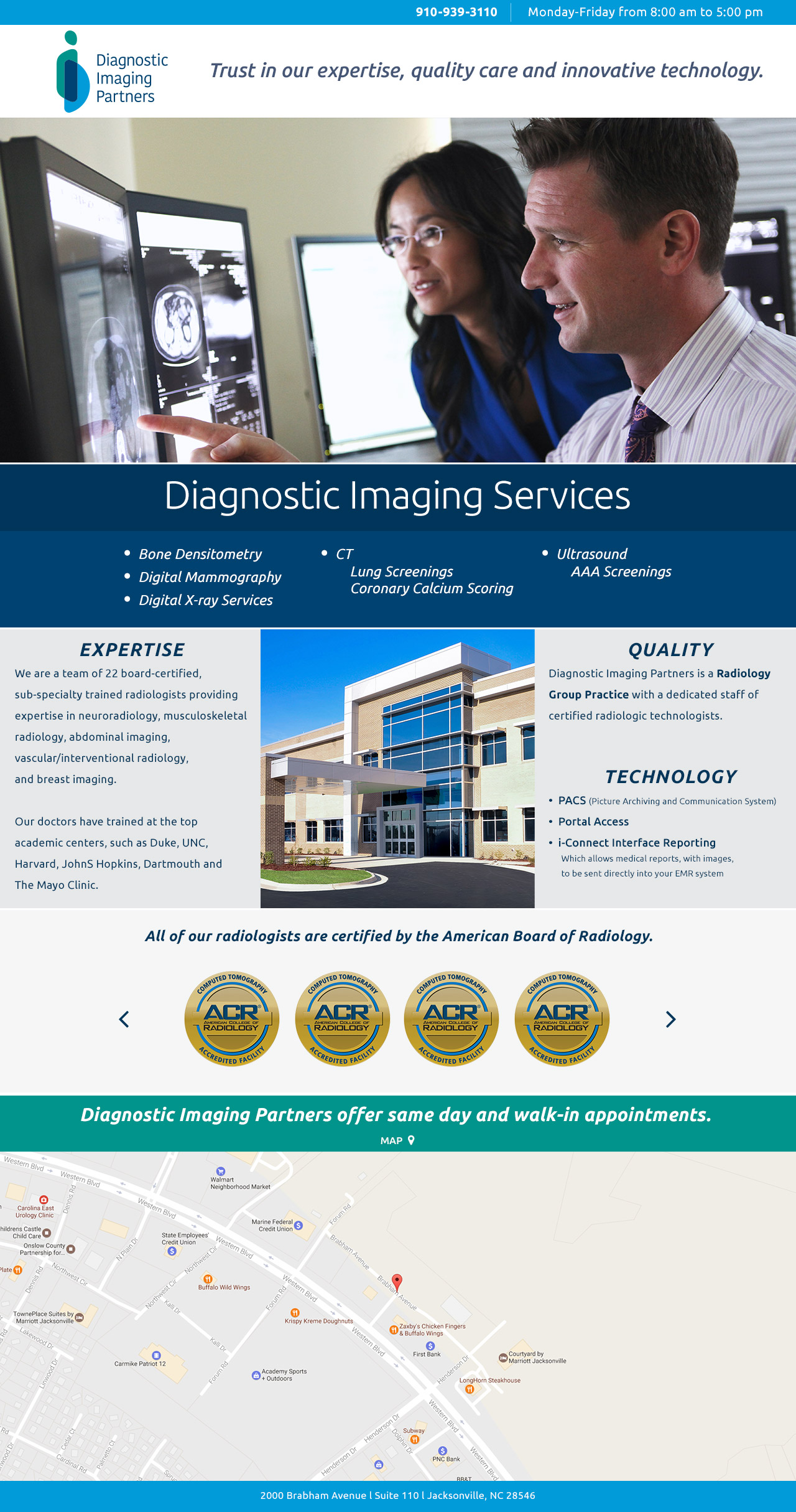 Diagnostic Imaging Partners Splash Page