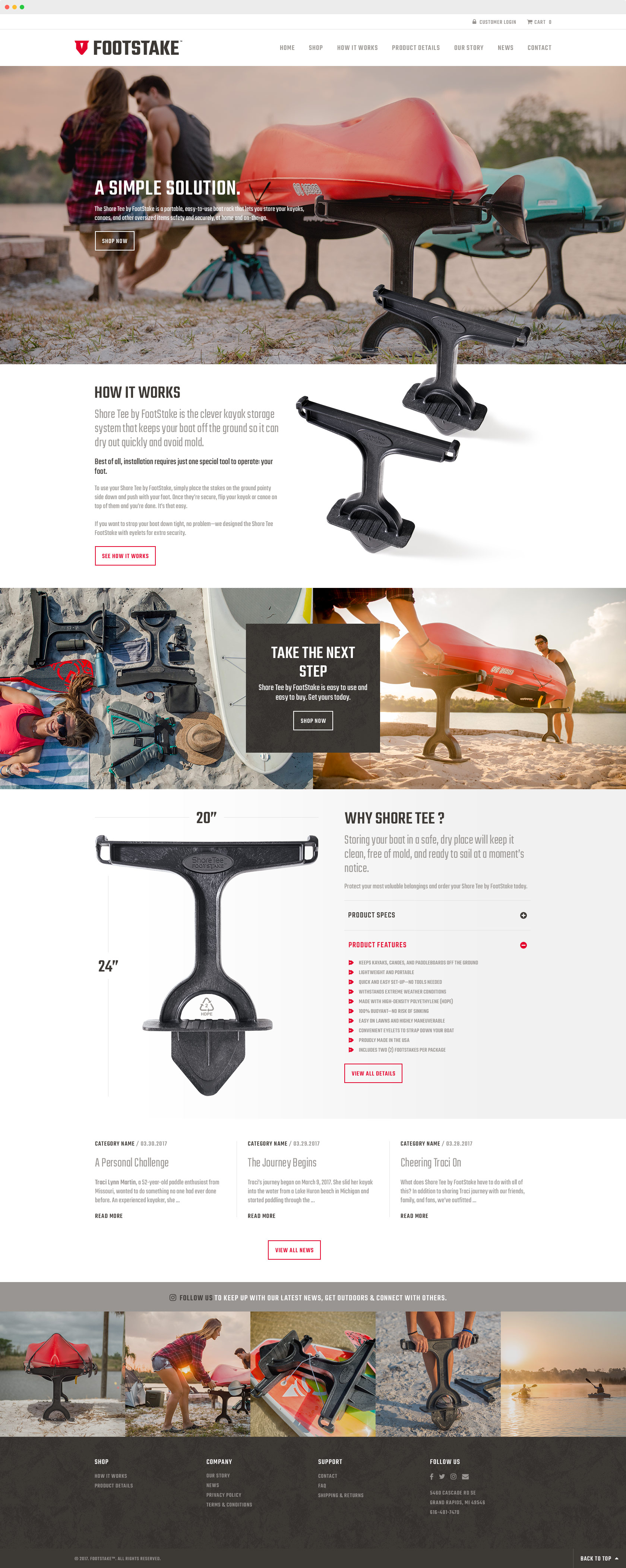 FootStake™ Website Design
