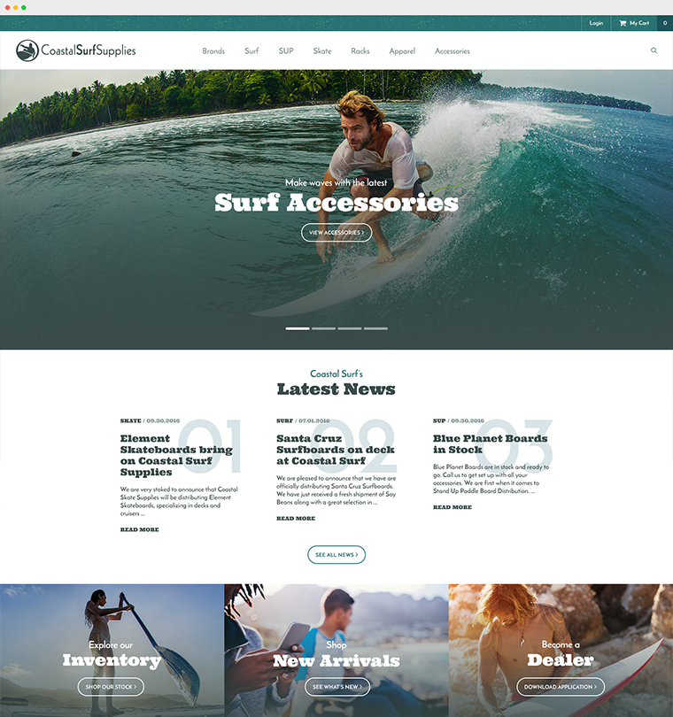 Coastal Surf Supplies eCommerce Website Development